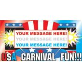 Usa Fun Fair Carnival Custom Message Vinyl Banner