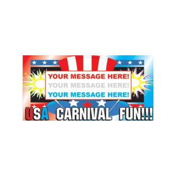 USA Fun Fair Carnival Custom Message Vinyl Banners