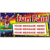 See You At The Fair Custom Message Vinyl Banner