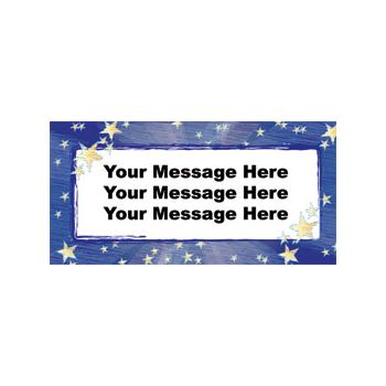 Stars Logo Heavy Duty Custom Message Vinyl Banners