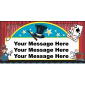 Magical Tricks Custom Message Vinyl Banner