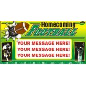 Homecoming Football Custom Message Vinyl Banner