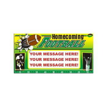 Homecoming Football Heavy Duty Custom Message Vinyl Banners