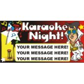 Karaoke Night Custom Message Vinyl Banner