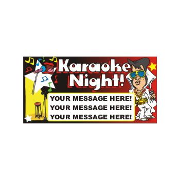 Karaoke Night Heavy Duty Custom Message Vinyl Banners