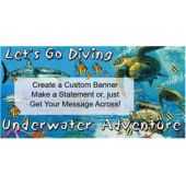 Lets Go Diving Underwater Adventure Custom Vinyl Banner