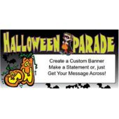 Halloween Parade Custom Message Vinyl Banner