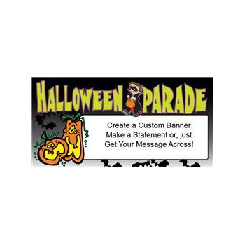 Halloween Parade Heavy Duty Custom Message Vinyl Banners