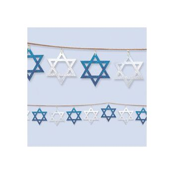 STAR OF DAVID   STRING GARLAND