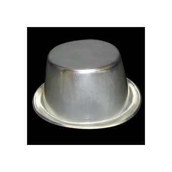 Silver Plastic Top Hats - 12 Pack