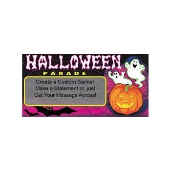 Halloween Parade Ghosts Custom Message Vinyl Banners