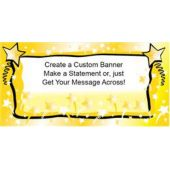 Gold Star Burst Custom Banner