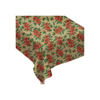POINSETTA PRINT   VINYL TABLE COVER