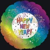 Tie Dye New Year's Eve Metallic Balloon - 18 Inch