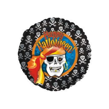 Pirate Skeleton Metallic Balloon - 18 Inch