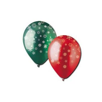 Holiday Snowflake Latex Balloons - 12 Inch, 50 Pack
