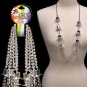 "Silver Bead Top Hat Necklaces-36""-12 Pack"