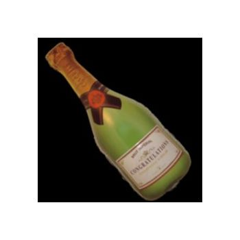 Champagne Bottle Metallic Balloon - 36 Inch