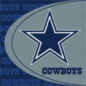 Dallas Cowboys NFL Lunch Napkins - 16 Pack
