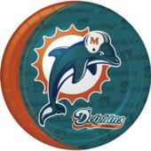 "Miami Dolphins 9"" Plates - 8 Pack"