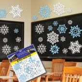 Snowflake Blue & White Cutouts-30 Pack