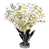 "Black Tie New Years Party 18"" Spray Centerpiece"