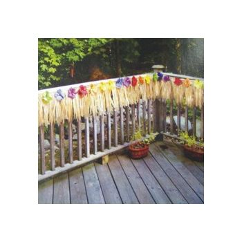 SILK FLOWER   DECK FRINGE