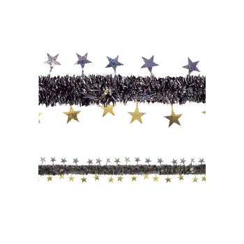 Gold and Silver   Star Tinsel Garland