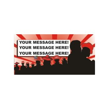 Red Hat Party Heavy Duty Custom Message Vinyl Banners