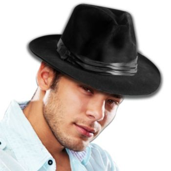 Black Felt Fedoras - 12 Pack