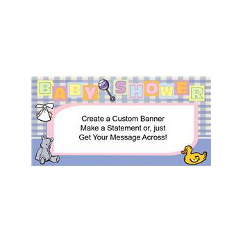 Baby Shower Blue Heavy Duty Custom Message Vinyl Banners