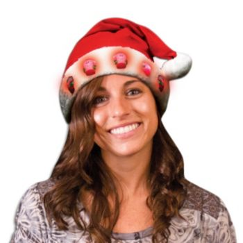 Red and White LED Santa Hat