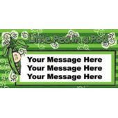 Pea In A Pod Baby Shower Custom Message Vinyl Banner
