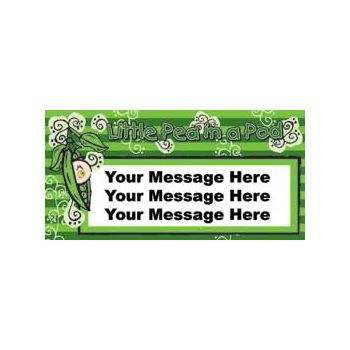 Pea in a Pod Baby Shower Custom Message Vinyl Banners