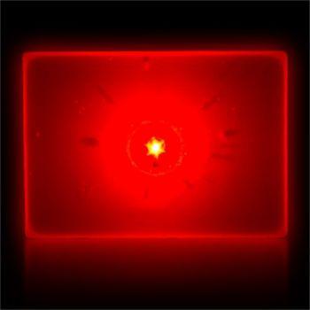 Flashing Red Rectangle LED Blinkies - 12 Pack