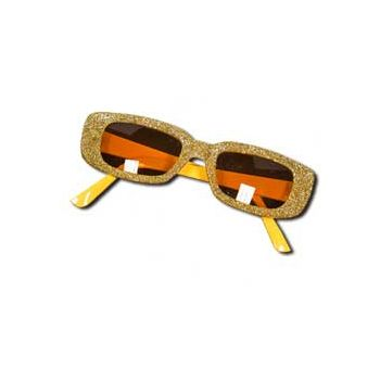 GOLD GLITTER   FUNKY SUNGLASSES
