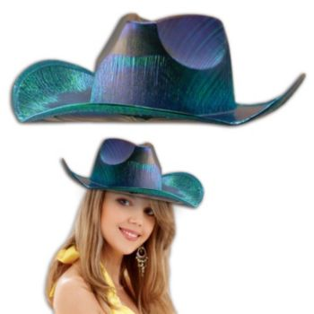 Blue Metallic Cowboy Hat