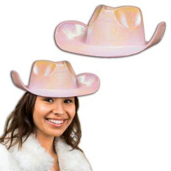 Pink Metallic Cowboy Hat