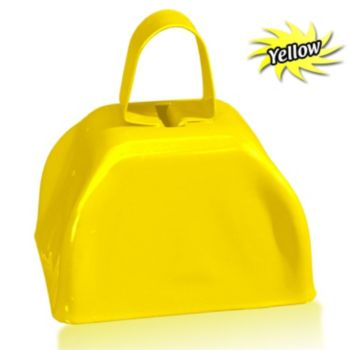 3 Inch Yellow Metal Cowbells