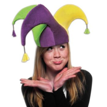 Three Point Mardi Gras Velvet Jester Hat