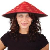Oriental Red Satin Hat