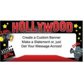 Red Hot Hollywood Custom Message Vinyl Banner