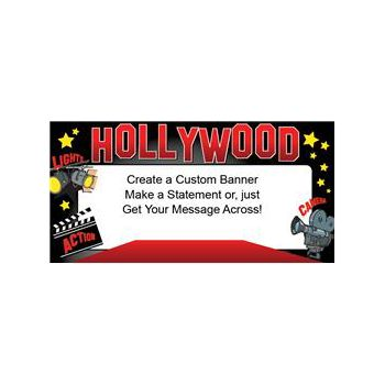 Red Hot Class Hollywood Custom Message Vinyl Banners