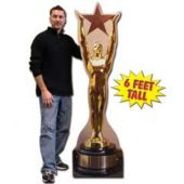 Hollywood Award Cardboard Stand Up Cut Out