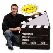 Hollywood Clapboard Cardboard Stand Up