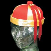 Oriental Red And Gold Mandarian Hats
