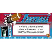 Sports Game Day Custom Message Vinyl Banner