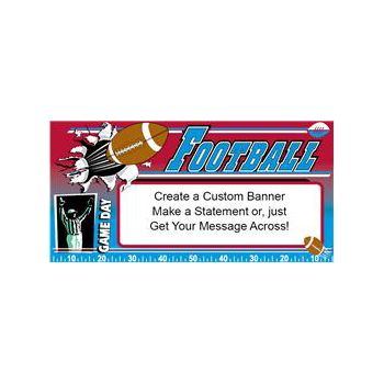 Sports Game Day Heavy Duty Custom Message Vinyl Banners