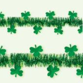 Shamrock Tinsel Garland Decoration