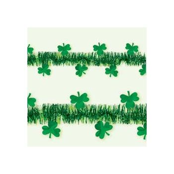 SHAMROCK   15' TINSEL GARLAND